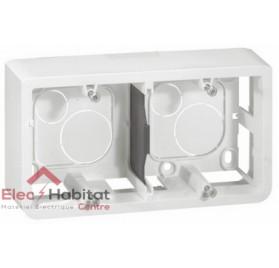 Cadre saillie 4, 5 ou 2 x 2 modules profondeur 40mm Mosaic blanc Legrand 080285