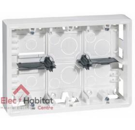 Cadre saillie 2 x 6, 2 x 8 ou 2 x 3 x 2 modules profondeur 46mm Mosaic blanc Legrand 080276