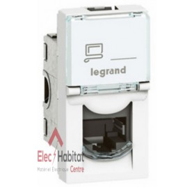 Prise RJ11 1 module Mosaic blanc Legrand 078730