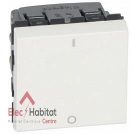 Interrupteur bipolaire 20A 2 modules Mosaic blanc Legrand 077050
