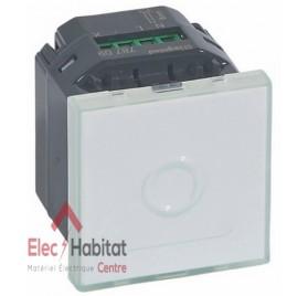 Interrupteur à commande tactile 3 fils Mosaic blanc Legrand 078709