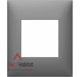 Plaque simple Espace Evolution Nuance Aluminium Arnould 64511
