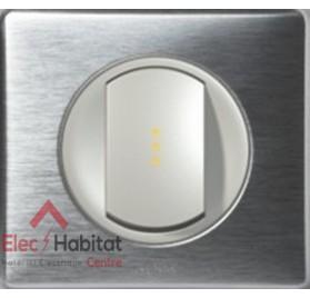 Interrupteur va et vient Céliane aluminium Legrand 067001+068301+080251+068921