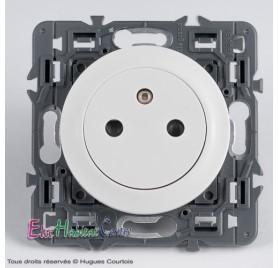 Prise 2P+T 16A affleurante Céliane blanc 67111+68111+80251
