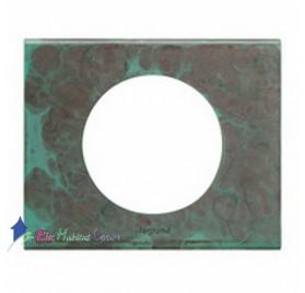 Plaque simple matière Cuivre Oxydé Céliane Legrand 069271
