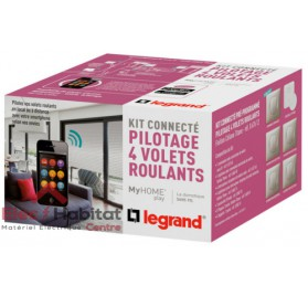 Kit connecté MyHOME Play volets roulant titane Legrand 067612