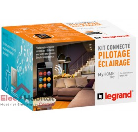 Kit connecté MyHOME Play éclairage blanc Legrand 067615