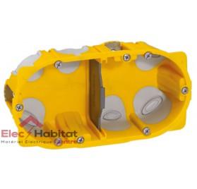 Boitier double entraxe 71mm ecobatibox profondeur 40mm Legrand 080022