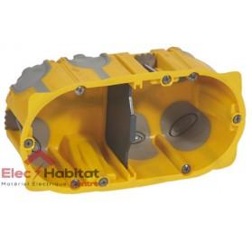 Boitier double entraxe 71mm ecobatibox profondeur 50mm Legrand 080032