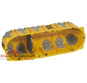 Boitier triple entraxe 71mm ecobatibox profondeur 50mm Legrand 080033