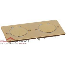 Platine vide carrée double Platinum bronze Arnould 48296