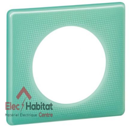 Plaque simple 50's turquoise Legrand 066641