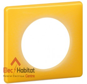 Lot de 10 plaques simple today jaune Legrand 066671