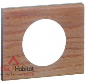 Plaque simple Matière chêne blanchi Legrand 069051