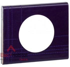 Plaque simple Matière cuir pourpre couture Legrand 069441