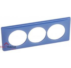 Plaque triple entraxe 57mm 90's violet Legrand 066669