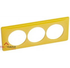 Plaque triple entraxe 57mm today jaune Legrand 066679