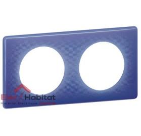 Plaque double 90's violet entraxe 71mm Legrand 066662
