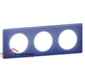 Plaque triple entraxe 71mm 90's violet Legrand 066663