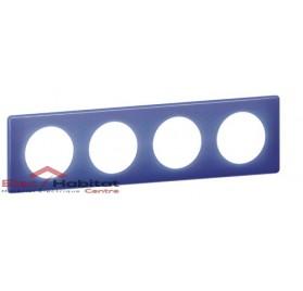 Plaque quadruple entraxe 71mm 90's violet Legrand 066664