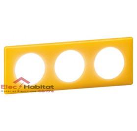 Plaque triple entraxe 71mm today jaune Legrand 066673
