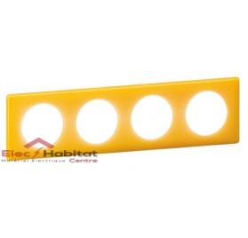 Plaque quadruple entraxe 71mm today jaune Legrand 066674