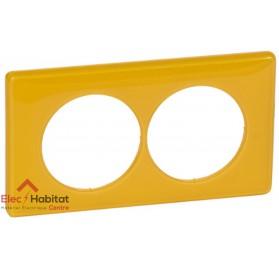 Plaque double entraxe 57mm today jaune Legrand 066678