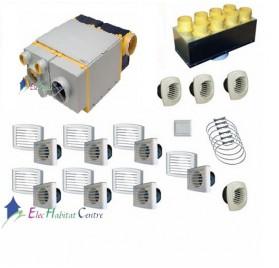 Ventilation double flux KIT AKOR-BP + kit accessoires Unelvent 603044