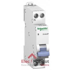 Disjoncteur Ph+N 10A D'clic à vis Schneider 20725