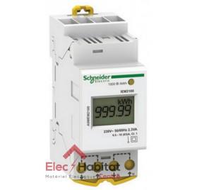 Compteur d'énergie 63A 2 modules monophasé Schneider A9MEM2100