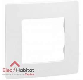 Plaque simple Niloé blanc Legrand 665001