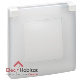 Plaque simple étanche IP44 IK07 Niloé blanc Legrand 665000