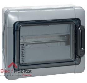 Tableau coffret électrique 1 rangée 12 modules étanche IP65 Legrand 01921