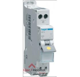 Disjoncteur Ph+H 25A automatique et vis Hager MFS725