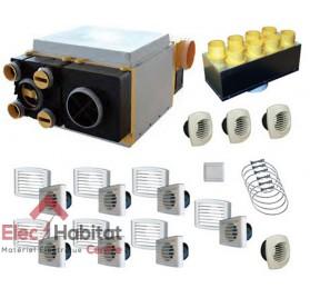 Ventilation double flux KIT AKOR-BP HR + kit accessoires Unelvent 603041