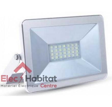Projecteur LED Super Slim blanc 10w 850Lm IP65, 6000K blanc froid VT-4611WBF