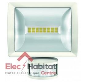 Projecteur LED avec détecteur blanc 10w theLeda E10 WH 750Lm IP55, 5000K blanc froid Theben 1020911