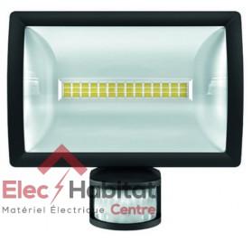 Projecteur LED avec détecteur noir 20w theLeda E20 BK 1325Lm IP55, 5000K blanc froid Theben 1020914