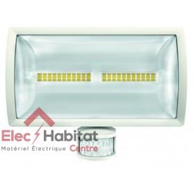 Projecteur LED avec détecteur blanc 30w theLeda E30 WH 2310Lm IP55, 5000K blanc froid Theben 1020915