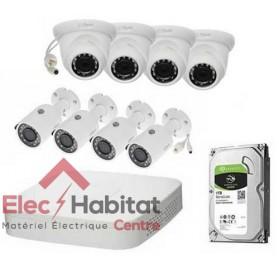 Kit vidéo-surveillance IP NVR 4K 80MBPS 8CH + 8 CAMÉRA IP + HD 1TB Dahua KIT-DHN814K