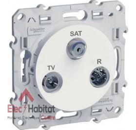 Prise TV FM SAT 1 entrée Schneider Odace blanc S520461
