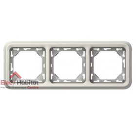 Support plaque 3 postes horizontal Plexo blanc Legrand 069698