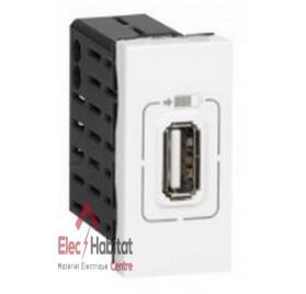 Prise chargeur USB mosaic 1 module type A 1100mA Legrand 077591