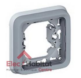 Support plaque 1 poste gris Plexo Legrand 069681
