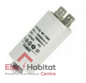 Condensateur 10µF 450v avec cosses pour motorisation FAST CAME 119RIR294
