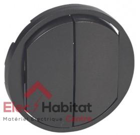 Manette double interrupteur, va et vient ou poussoir Céliane graphite Legrand 067902