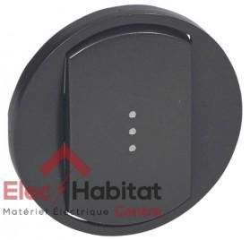Manette interrupteur, va et vient ou poussoir à voyant Céliane graphite Legrand 067903