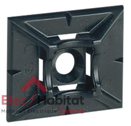 Lot de 50 embases auto-collante noire pour colliers Colring Legrand 032067
