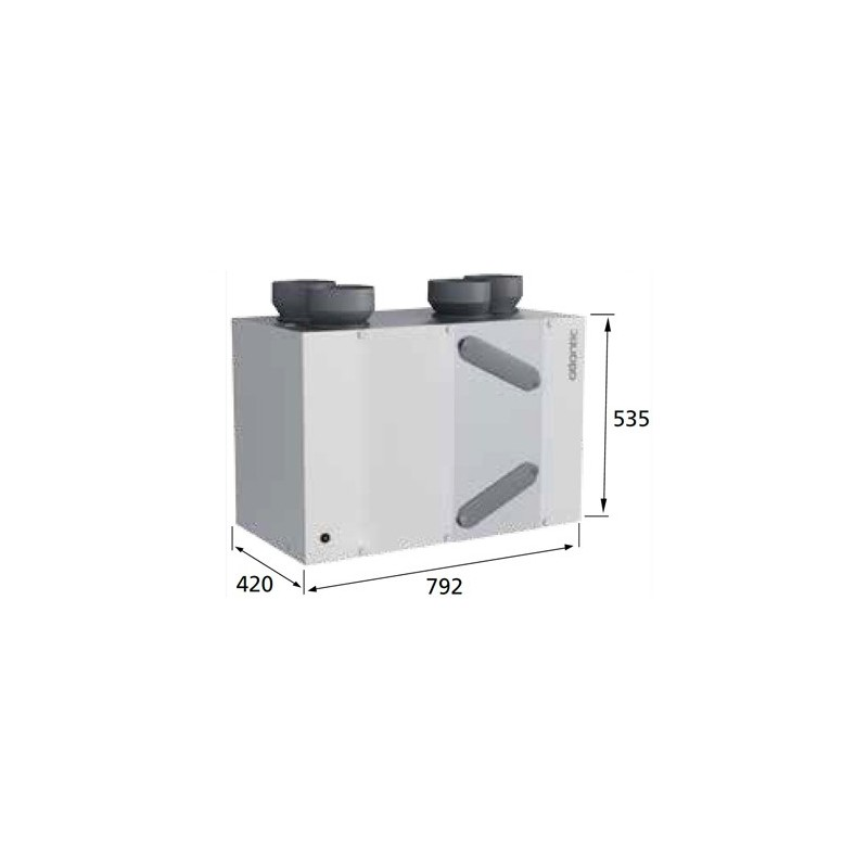 Ventilation double flux duocosy hr de marque atlantic r f rence 412191 - Ventilation triple flux ...