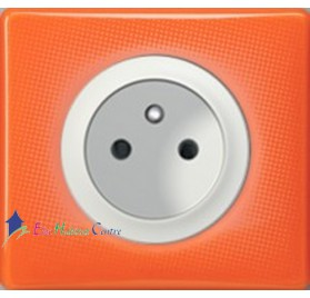 Prise 2P+T 16A Legrand Céliane 70's orange 67111+68112+80251+66651